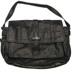 Juicy Couture black leather purse/laptop bag